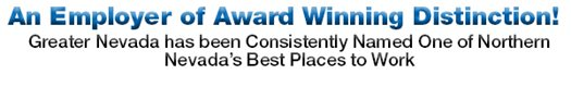 An Employer of Award Winning Distinction - Northern Nevada's Best Places to Work